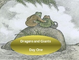 """Imagine It Reading Grade 2 Unit 5 Lesson 1 """"Dragons and Giants""""  Powerpoint"""