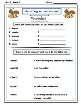 Imagine It Reading Grade 2 Vocabulary Printable Unit 2 Let's Explore