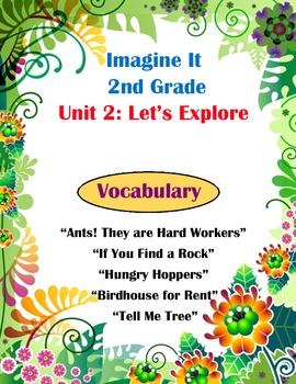 Imagine It Reading Grade 2 Vocabulary Printable Unit 2 Let