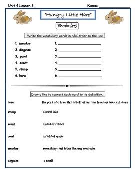 Imagine It Reading Grade 2 Vocabulary Printables Unit 4 Look Again