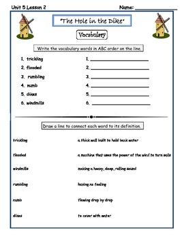 Imagine It Reading Grade 2 Vocabulary Printables Unit 5 Courage
