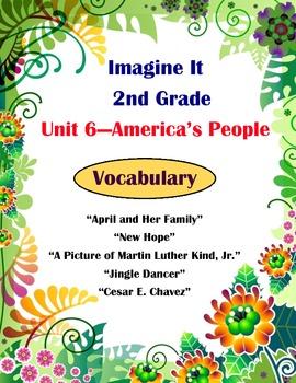 Imagine It Reading Grade 2 Vocabulary Printables Unit 6 America's People
