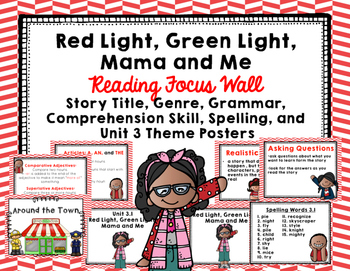 "Imagine It ""Red Light, Green Light, Mama and Me""  Unit 3.1 Reading Focus Wall"