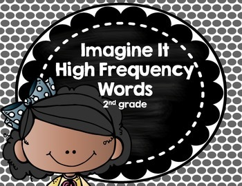 Imagine It SRA High Frequency Words 2nd grade - Black Polka Dots