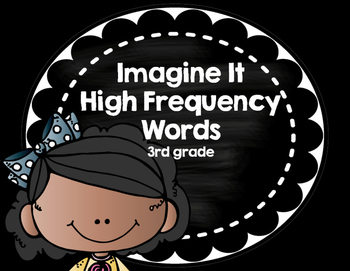Imagine It SRA High Frequency Words 3rd grade -  black and white
