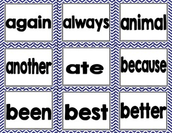 Imagine It SRA High Frequency Words - Blue Chevron 2nd grade