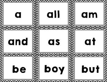 Imagine It SRA High Frequency Words- Kindergarten- black chevron