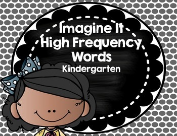 Imagine It SRA High Frequency Words- Kindergarten- black polka dots