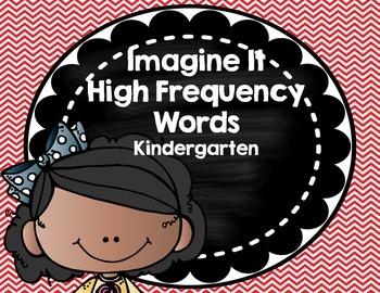 Imagine It SRA High Frequency Words- Kindergarten- red chevron