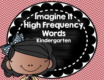 Imagine It SRA High Frequency Words- Kindergarten- red chevron