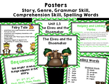 """Imagine It """"The Elves and the Shoemaker """"Unit 1.3- Reading Focus Wall"""