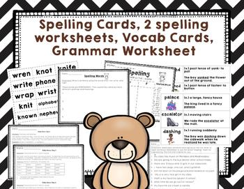 "Imagine It ""Corduroy ""Unit 1.5- Reading Focus Wall-Grammar Task Cards"