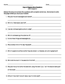 Imagine It! Third Grade Unit 5 Story Question