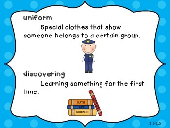 Imagine It! Unit 1 Vocabulary for First Grade