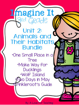 Imagine It Unit 2 Animals and Their Habitats Pack Grade 3 {Editable}