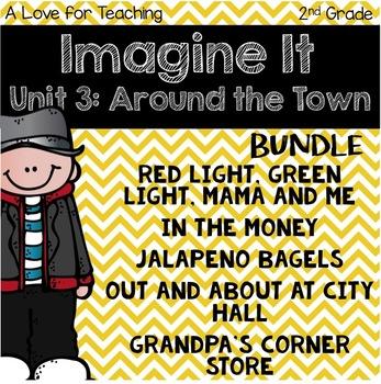 Imagine It Unit 3 Around the Town Grade 2 {Editable}