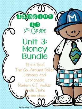 Imagine It Unit 3 Money Grade 3 {Editable}