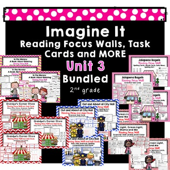 Imagine It Unit 3 Reading Focus Wall-Task Cards-Student Pages