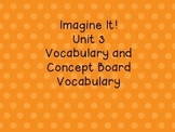 Imagine It! Unit 3 Vocabulary Posters for First Grade