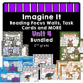 Imagine It  Unit 4 Reading Focus Wall BUNDLED-Task Cards-S