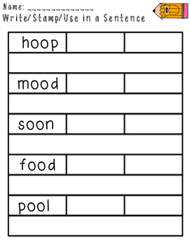 Imagine It Unit 4 Spelling Word Work