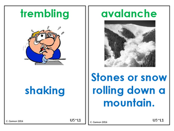Imagine It! Unit 5 Courage Vocabulary Cards