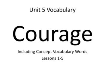 Imagine It! Unit 5 Courage Vocabulary Cards