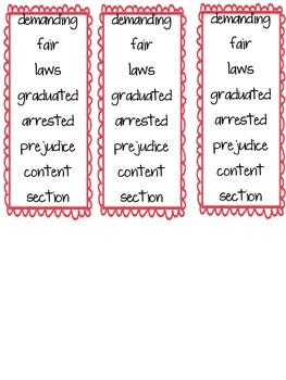Imagine It Unit 6 Vocabulary Cards