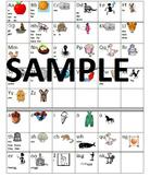 Imagine It/SRA Alphabet Chart for Writing Folders