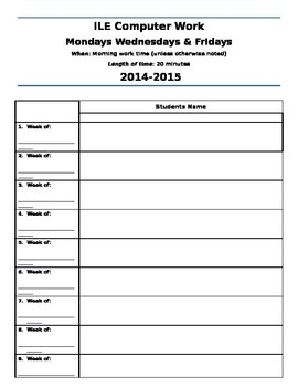 Imagine Learning (ILE) Student Login Checklist