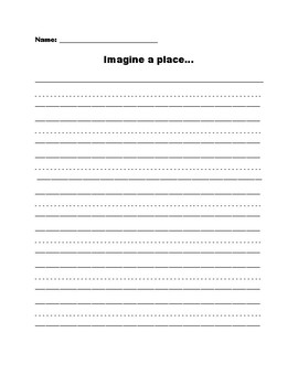 Imagine a Place - Lesson Plan & Writing Activity on Adjective Clauses