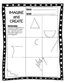 Drawing Challenge Printables (Early Finishers!)