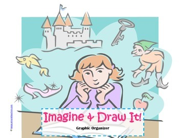 Imagine and Draw It! Graphic Organizer w/Text Evidence (Cr