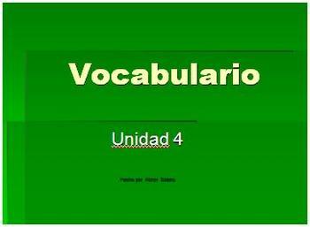 Imagine it! Imaginalo! Unit 4 Primer Grado Vocabulary vencindario