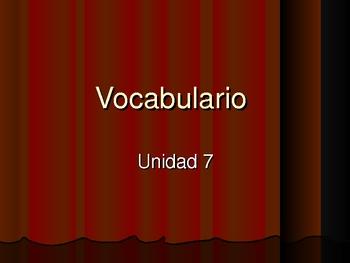 Imagine it! Imaginalo! Unit 7 Primer Grado Vocabulary vencindario