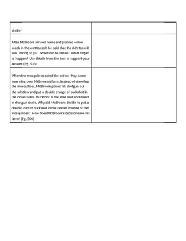 Imagine it! McBroom the Rainmaker   Text Dependent Questions
