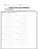 Imagine it! Spelling Homework Unit 1 Lessons 1-5