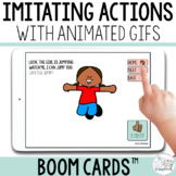 Imitating Actions Boom Cards for Early Intervention Speech