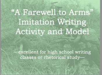 Imitation Exercise from A Farewell to Arms