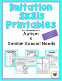 Imitation Skills Printables for Students with Autism & Sim
