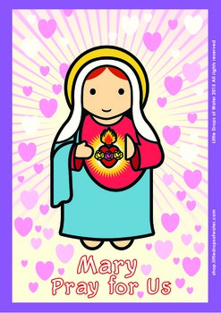 Immaculate Heart Poster - Catholic