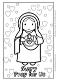 Immaculate Heart of Mary Coloring - Catholic
