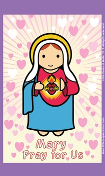 Immaculate Heart of Mary Flash Card