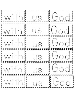 """Immanuel, God with us"" Word Work"