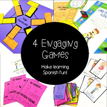 Immediate and Extended Family in Spanish: Games, interactive notebooks, posters