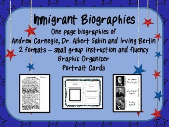 Immigrant Biographies: Andrew Carnegie, Dr. Albert Sabin and Irving Berlin