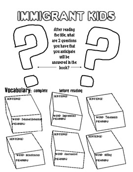 Immigrant Kids Guided Reading Packet