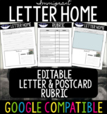 Immigrant Letter Home EDITABLE