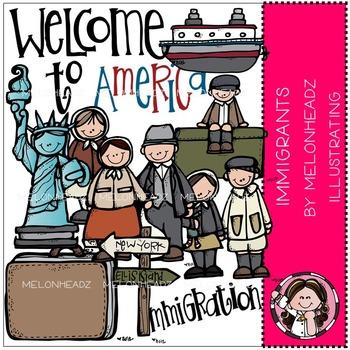Melonheadz: Immigrants clip art - COMBO PACK