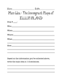 Immigrants of Ellis Island Main Idea practice